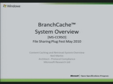 Content Caching and Retrieval System overview (MS-CCRSO) Presentation 2010