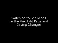 Switching to Edit Mode on the ViewEdit Page and Saving Changes - Day 4 - Part 11