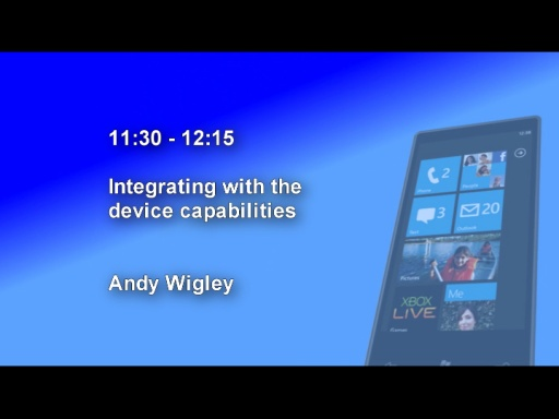 DDD Windows Phone 7 Event - Session 3