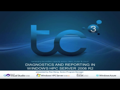 Diagnostics and reporting in Windows HPC Server 2008 R2