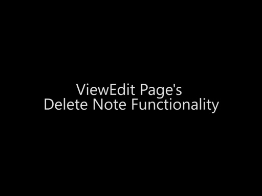 ViewEdit Page's Delete Note Functionality - Day 4 - Part 12