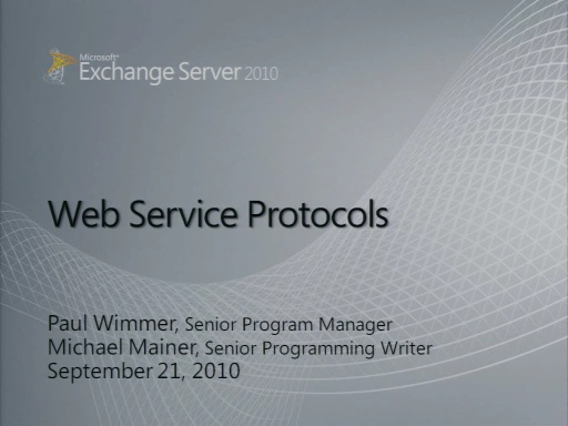 Exchange Web Services (EWS)