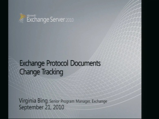 Exchange Protocol Documents Change Tracking
