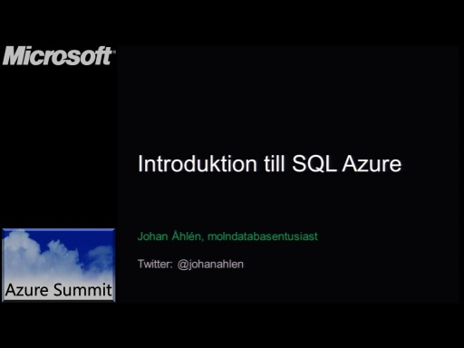 Azure Summit - SQL Azure