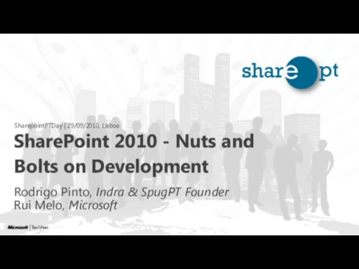 SharePoint2010: Nuts and Bolts on Development - SharepointPTDay 29/09/2010