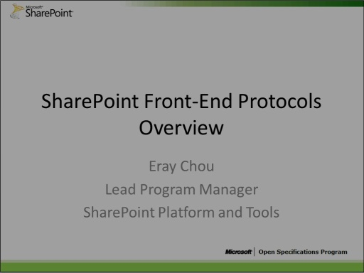 SharePoint Front End Protocols Overview