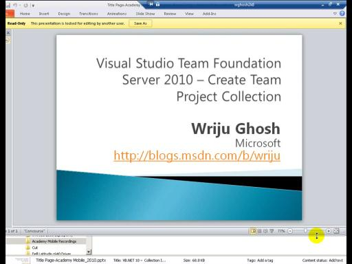 Team Foundation Server 2010 – Creating Team Project