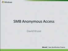 SMB Allow Anonymous Access 2010