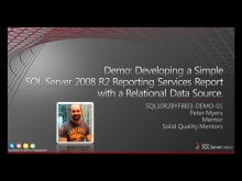 Demo: Developing a Simple SQL Server 2008 R2 Reporting Services Report with a Relational Data Source