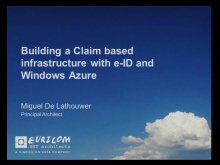 Architect Forum - Building a Claim based infrastructure with eID and Windows Azure