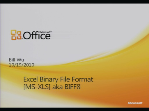 MS-XLS Binary File Format Presentation