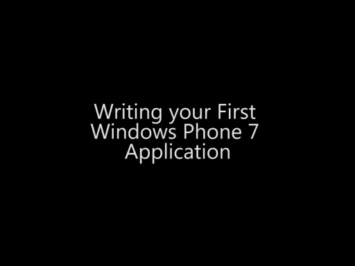 Writing your First Windows Phone 7 Application - Day 1 - Part 3