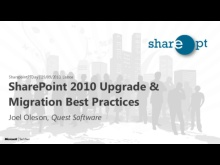 Joel Oleson: SharePoint 2010 Upgrade & Migration Best Practices - SharepointPTDay 29/10/2010
