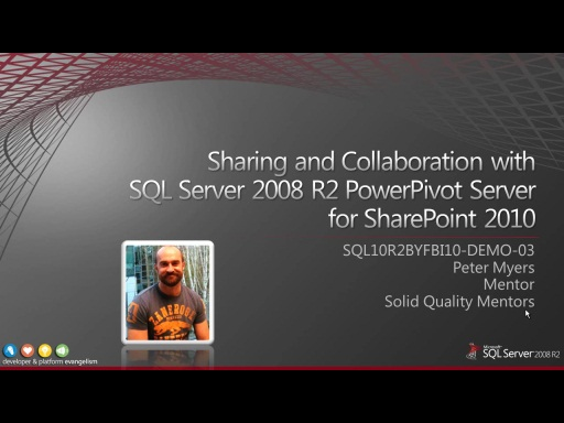 Demo: Publishing and Sharing SQL Server 2008 R2 PowerPivot Workbooks with SharePoint 2010 Excel Services