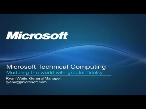 Overview of Microsoft Technical Computing and HPC Server 2008R2
