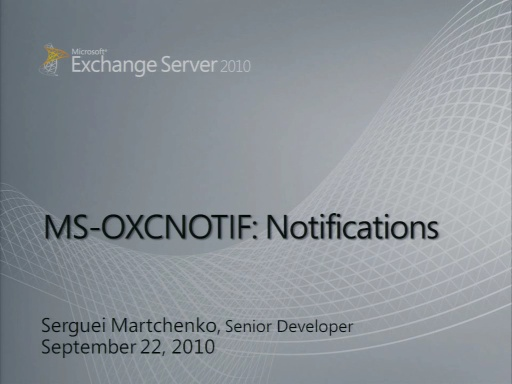 Exchange Notifications