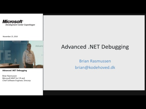 MDCC TechTalk - Advanced .NET Debugging (part 1)