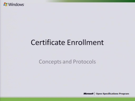 Certificate Enrollment Concepts and Protocols 2010