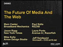 The Future of Media and the Web