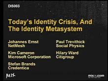 Today's Identity Crisis, and the Identity Metasystem