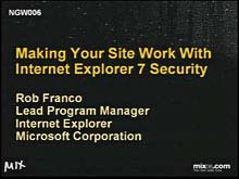 Making Your Site Work with IE7 Security