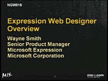 Expression Web Designer Overview