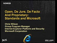 Open, De Jure, De Facto and Proprietary: Standards and Microsoft