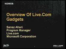 Overview of Live.com Gadgets