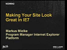 Making Your Site Look Great in IE7