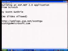 Building an Application from Scratch Using ASP.NET 2.0