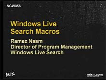 Windows Live Search Macros - Build, Share, and Use Your Own Search Engine in …