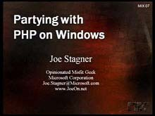 Partying with PHP (…and the Microsoft Platform)