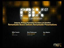 Starbucks, Windows Presentation Foundation, and StandOut: Remarkable Brand Delivers Remarkable Presentations