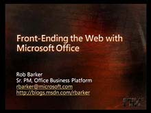 Front-Ending the Web with Microsoft Office