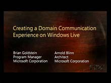 Creating a Domain Communication Experience on Windows Live