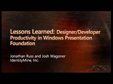 Lessons Learned: Designer/Developer Productivity in Windows Presentation Foundation