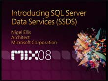Introducing SQL Server Data Services