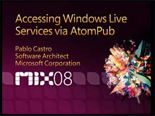 Accessing Windows Live Services via ATOM Publishing Protocol (APP)