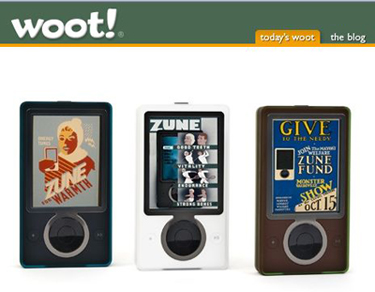 $100 Zune30s on Woot! today