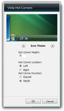 Sweet Sidebar Gadget: Vista Hot Corners