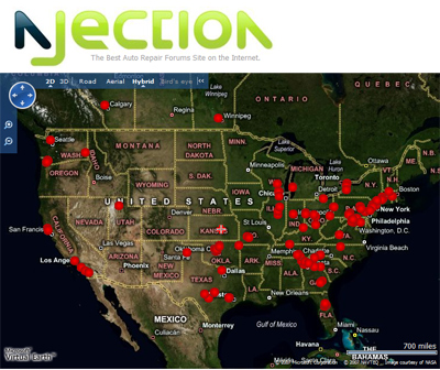 NJection's Live Search Speedtrap Map