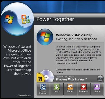 Vista and Office for free, just drink this