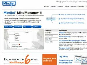 MindManager... Manage your thoughts in a logical (and pretty!) manner.