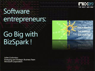 Software Entrepreneurs: Go Big with  BizSpark