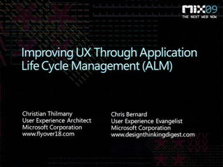 Improving UX through Application Lifecycle Management