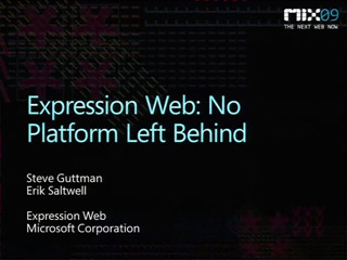 Microsoft Expression Web: No Platform Left Behind