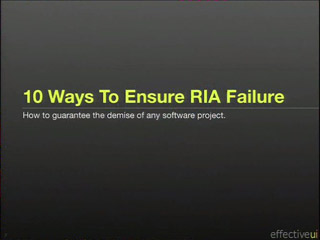 Ten Ways to Ensure RIA Failure
