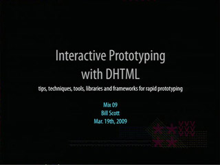 Interactive Prototyping with DHTML