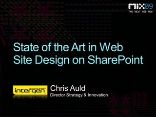 State of the Art in Web Site Design on Microsoft SharePoint