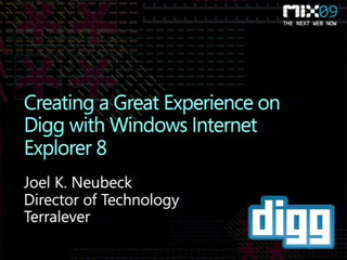 Creating a Great Experience on Digg with Windows Internet Explorer 8